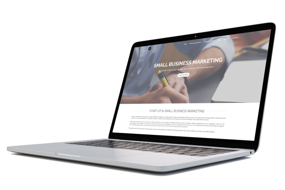 SMall Business Marketing Laptop Screen Link to SME - Munro Agency Glasgow